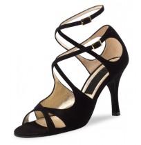 Double x-strap suede dance shoes