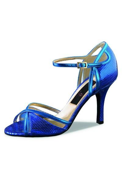 Blue snake leather dancing shoe