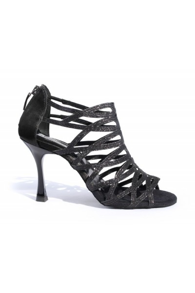 Shiny black dancing shoes