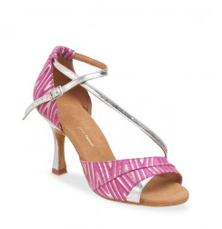 Elegant pink and silver dancing shoe
