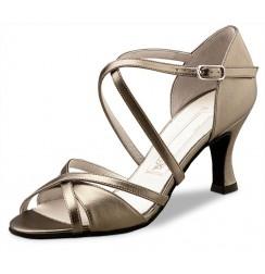 Elegant antik gold leather dancing shoe