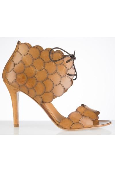 Yaninna Designer Camel leather vintage