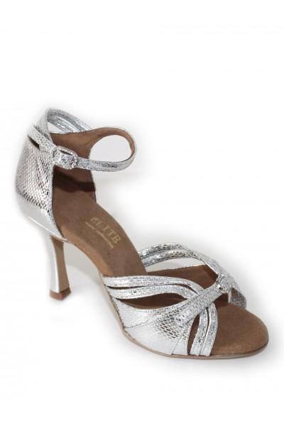 b5338d7751d Elegant silver snakeskin leather bridal shoes