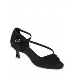 Elegant black leather comfort shoe