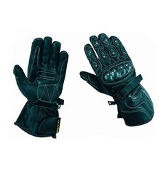 Leather motorcycle gloves carbon and kevlar protections