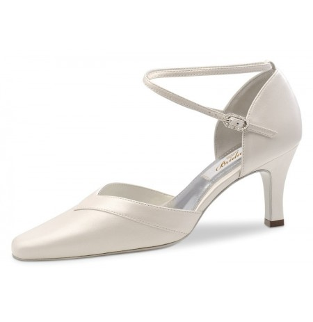 Ivory leather bridal comfort shoes on offer