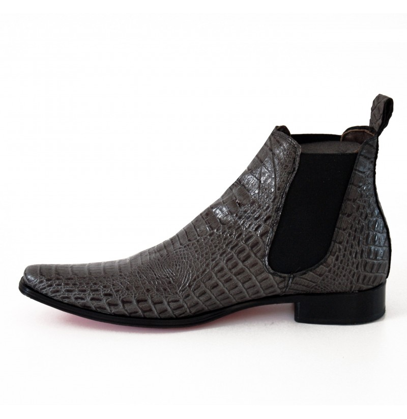 High Ankle Leather Shoes Mens