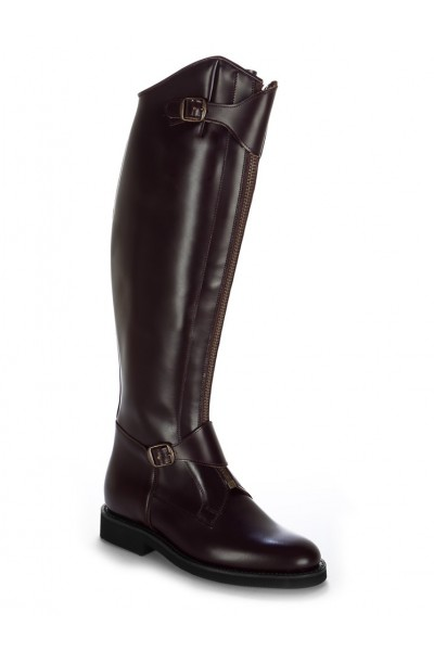 Burgundy leather polo riding boots