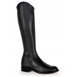 Classical black leather dressage boot