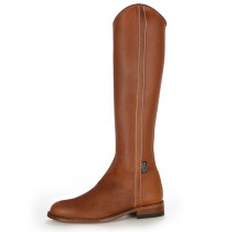 Natural leather spanish dressage boot