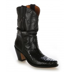 Real snake cowboy boots for women