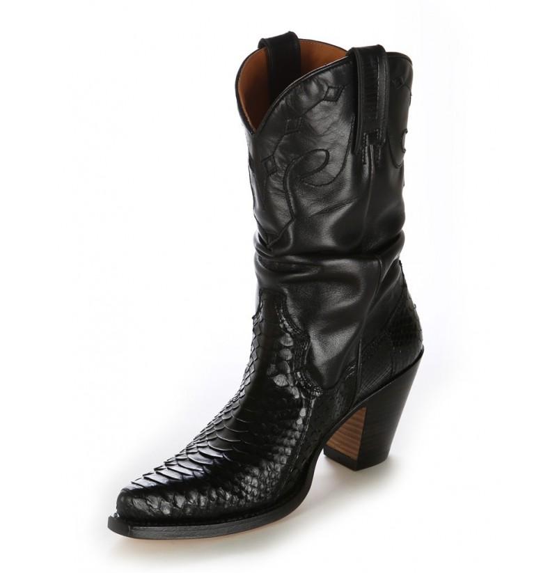 Ladies snakeskin western boots