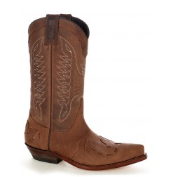 Oiled leather mexican cowboy boots