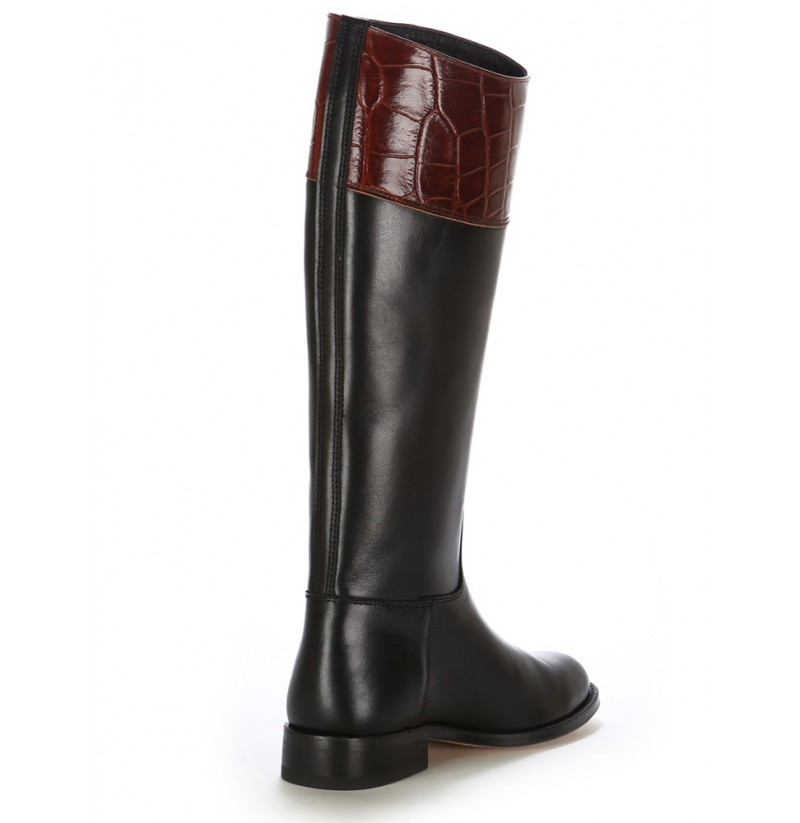 two tone leather boots for horse riding leather spanish style horse