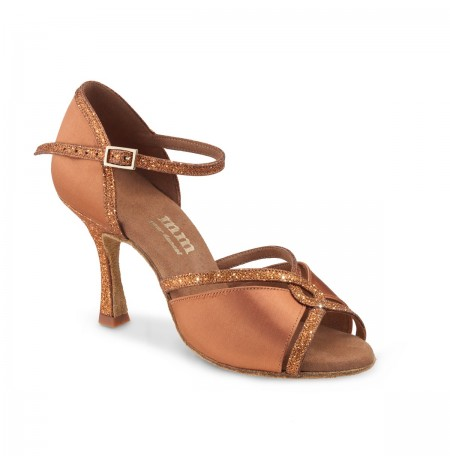 Professional latin dance shoes in copper