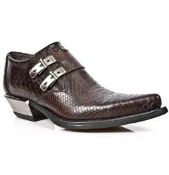 Brown snake rock men shoes