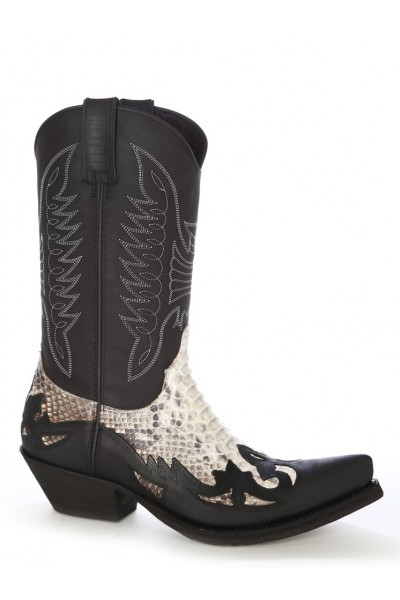 Real Snakeskin Leather Cowboy Boots Python Leather Western