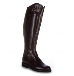 Made to measure Burgundy leather polo riding boots