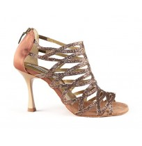 Copper glitter dance shoes