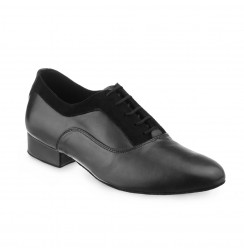 Elegant black men's leather dancing shoes