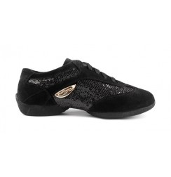 Women's Black glitter dance sneakers