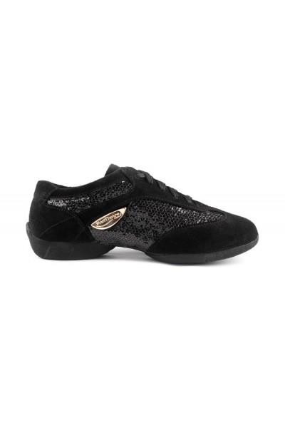 low cost 11ec4 51fe4 Black sparkly dance sneakers