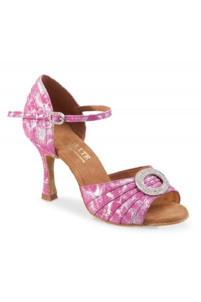 Elegant pink leather open toe wedding heels ORIGINAL PINK LEATHER BRIDAL  HEELS