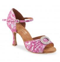 Pink evening heels
