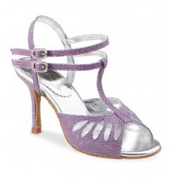 Purple sandals heels