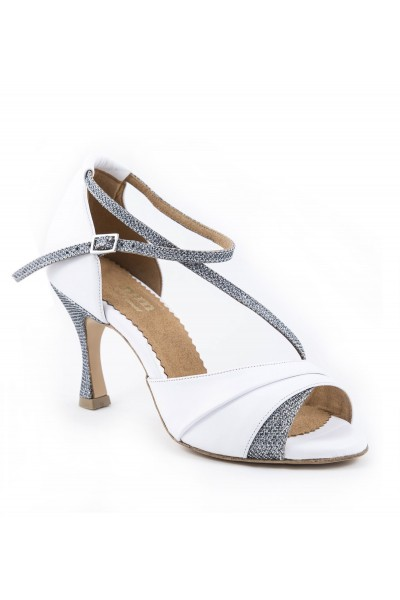 84543392bd4 Ladies white & silver sparkly leather bridal shoes