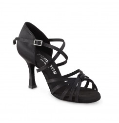 Classic black satin dancing shoes