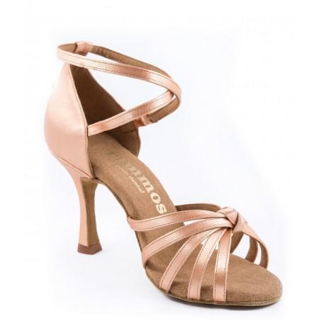 Nude x-strap salsa dance shoes