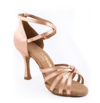 Nude x-strap salsa dance shoes