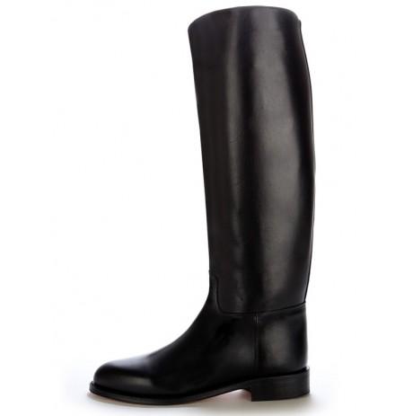 Semi measure black leather riding boots