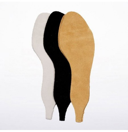 Suede leather outsoles for dancing shoes