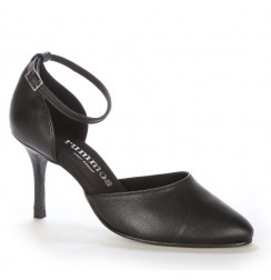 Elegant black leather comfort shoes
