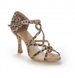 Ladies leopard print dance shoes with mesh