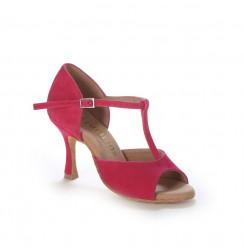 Pink fuchsia salsa dance shoes for women