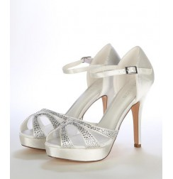 Ivory wedding heels with rhinestones