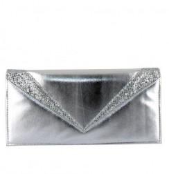 Fancy silver envelope bag for women