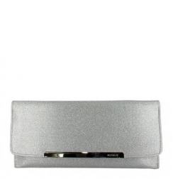 Sparkly silver glittery clutch purse