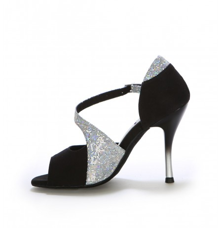 Black elegant latin dance heels
