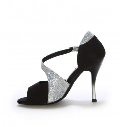 Black elegant latin dance heels
