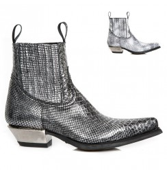 Silver rock ankle boots for men