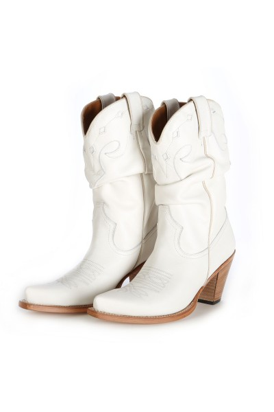 designer fashion top-rated quality great variety styles White leather cowboy boots for women