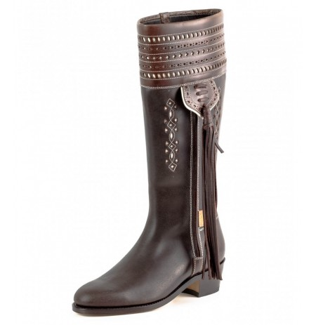 Spanish leather riding boots for women