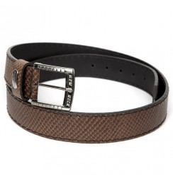 Brown Snake leather Belt