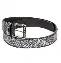 Silvered Snake leather Belt