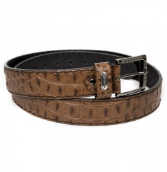 Brown crocodile leather Belt