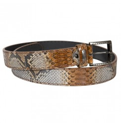 Camel Genuine Snakeskin Belt